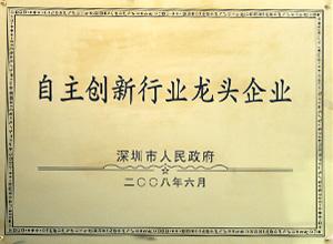 2008 深圳市自主创新行业龙头企业